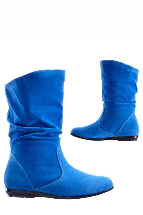 Modré slip-on topánky