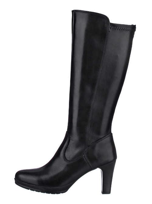 Vysoké topánky Tamaris z hladkej kože