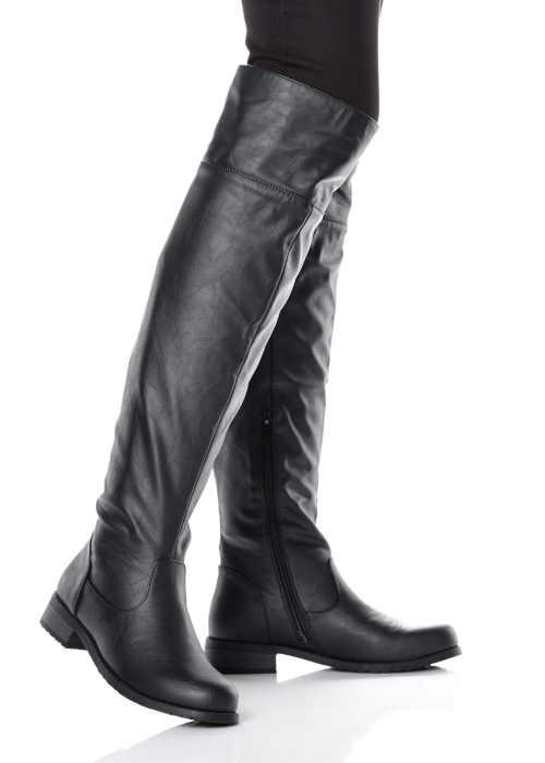 Čierne čižmy Bonprix nad kolená
