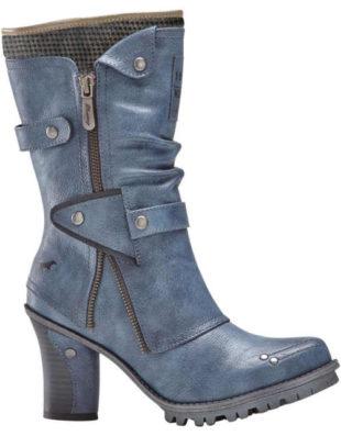 Moderné svetlo modré dámske čižmy džínsový vzhľad