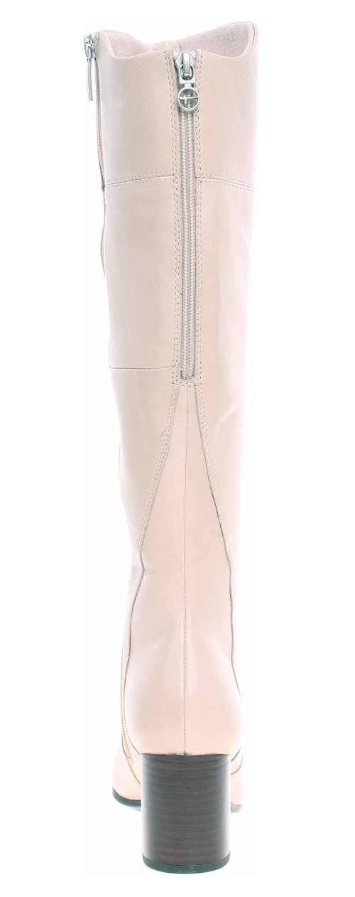Svetlo ružové dámske čižmy na vyššom podpätku