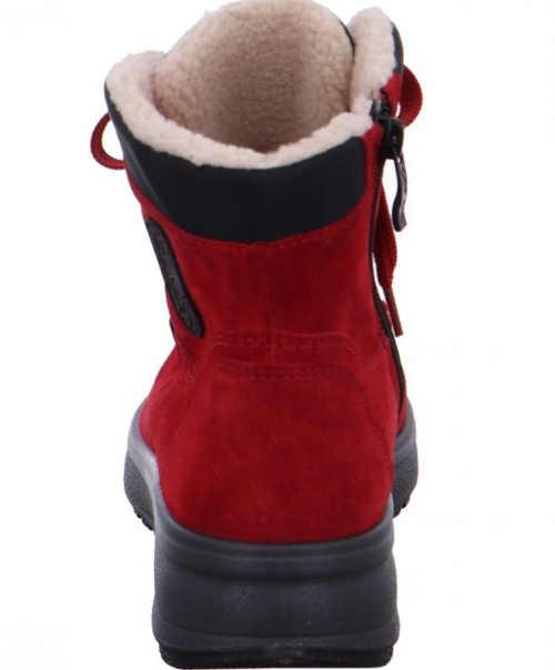 Červené členkové topánky pre ženy