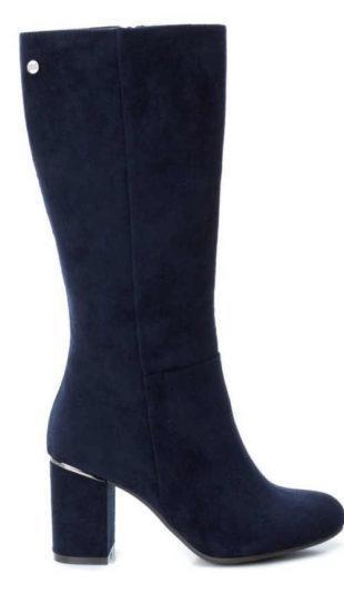 Modré dámske topánky pod kolenáModré dámske topánky pod kolená