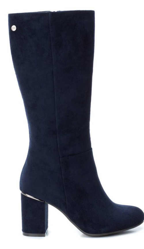Modré dámske topánky pod kolená