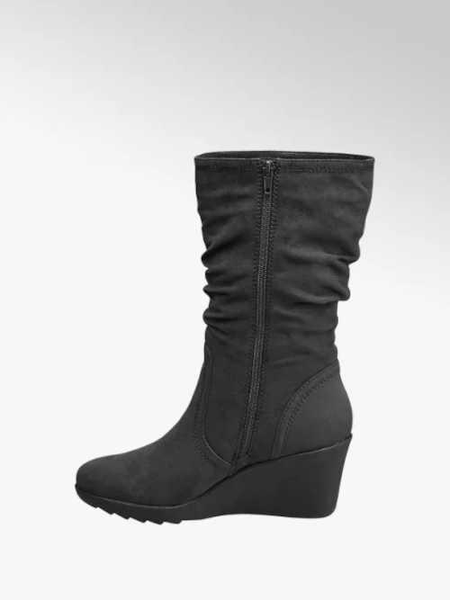 Sivé dámske topánky na klinoch
