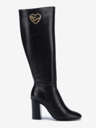 Čierne dámske čižmy Twinset na vysokom podpätku