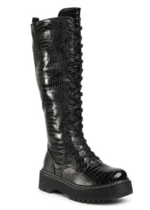 Dámske vysoké šnurovacie topánky