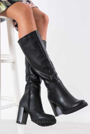 Dámske vysoké topánky so stĺpcovým podpätkom