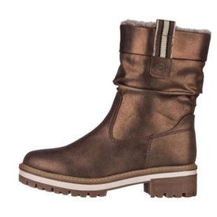Moderné zateplené topánky s kovovým efektom