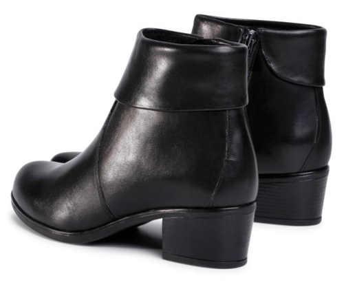 Nízke čierne topánky na podpätku