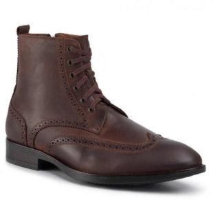 Pánske kožené členkové topánky