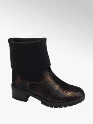 Ponožkové topánky s módnym károvaným vzorom