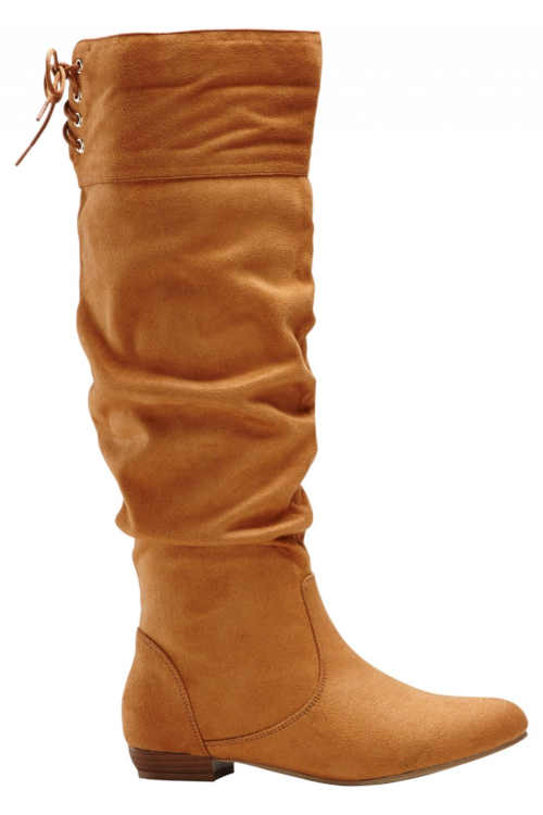 Trendy vysoké topánky v koňakovo hnedej farbe
