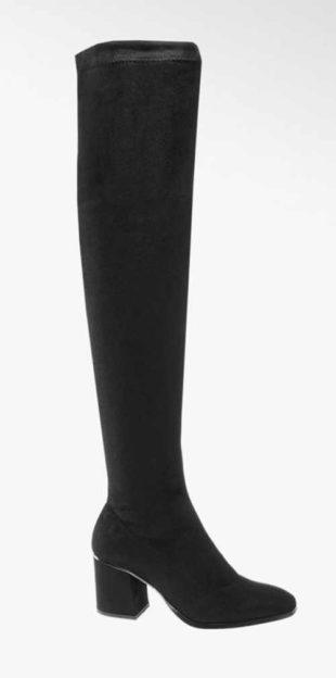 Čierne vysoké topánky nad kolená Vero Moda