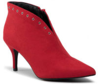 Elegantné lacné členkové dámske červené topánky