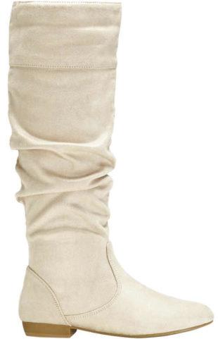 Krémové dámske topánky s volánmi