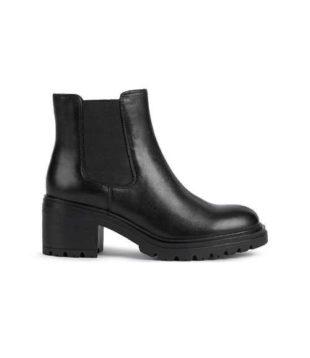 Čierne dámske štýlové členkové topánky Geox
