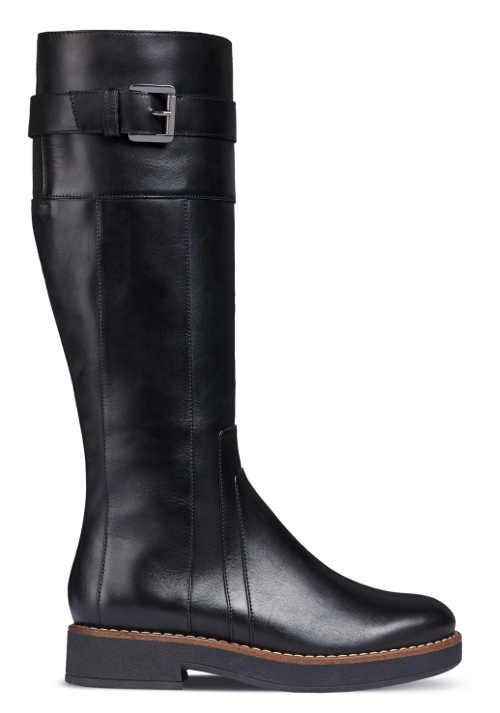 Čierne dámske topánky na platforme GEOX ADRYA