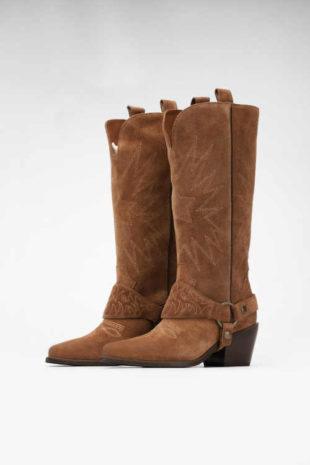 Dámske kožené kovbojské topánky Gino Rossi