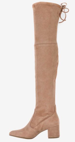 Moderné semišové topánky nad kolená
