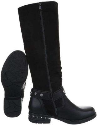 Dámske vysoké čižmy v atraktívnom čiernom dizajne
