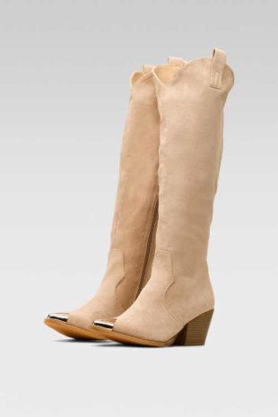 Béžové topánky so zipsom